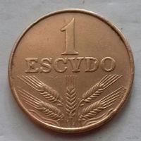 1 эскудо, Португалия 1973 г., без грязи (т.н. красивой патины)