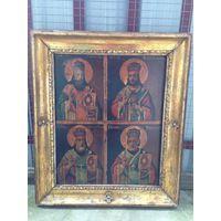 Икона Три Святителя и Николай Чудотворец.