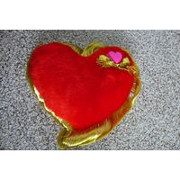 """Новая! Мягкая игрушка/ сувенир """"Сердце"""". Можно ко дню Святого Валентина."""