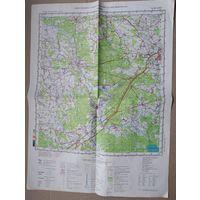 Карта района г.Слонима. 1991 г