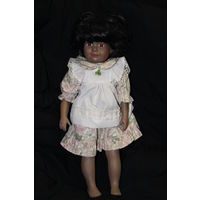 Кукла фарфор материя