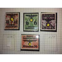 Германия 1940 Генерал-губернаторство Надпечатки на польских марках