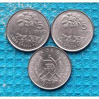 Гватемала 5 центавос (центов). UNC. Дерево. Инвестируй выгодно в монеты планеты!