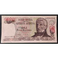 10 песо 1983-84 - Аргентина - aUNC