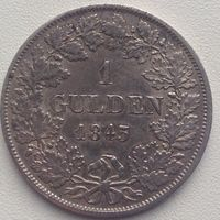 1 гульден Баден 1843г
