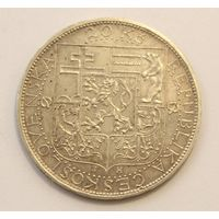 Чехословакия, 20 крон 1937 год, Серебро