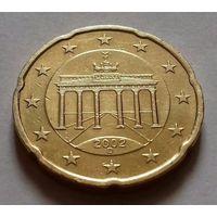 20 евроцентов, Германия 2002 D