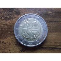 Словакия 2 евро 2009  10 лет монетарной политики ЕС (EMU) и введения евро