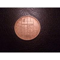 5 центов Нидерланды 1983 г.