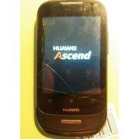 Смартфон Huawei Ascend Y 101, трещина через экран, не держит батарея. На запчасти или восстановление