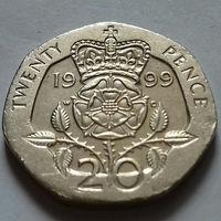 20 пенсов, Великобритания 1999 г.