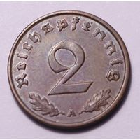 Германия, 2 пфеннига 1938 год