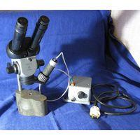 Микроскоп МБС-2 (МБС-1) с наковальней и подсветкой