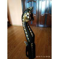 """Интерьерная статуэтка из дерева""""Чёрный Кот""""Польша."""