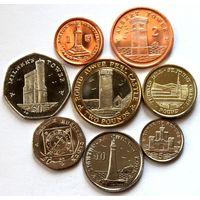 Остров Мэн набор 8 монет 2011 UNC