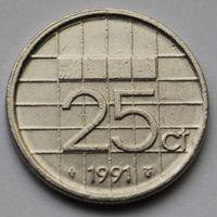 25 центов 1991 Нидерланды