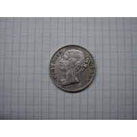 Британская Индия (Ост-Индская компания) 1 рупия 1840 (легенда по бокам головы), серебро