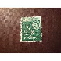 Маврикий 1953 г.Елизавета II .Водопад Тамаринд или Тамарин.
