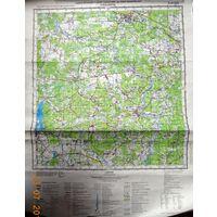 Осиповичи карта 40х53 см.