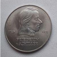 Германия - ГДР 20 марок, 1972 Фридрих фон Шиллер 6-10-17