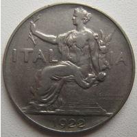Италия 1 лира 1922 г. (d)