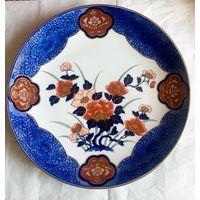 Антикварная тарелка Gold Imari,Япония,конец 19-начало 20 века.