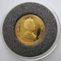 Острова Кука. 1 доллар 2006. Пруф. Золото. 4