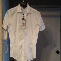 Стильная молодежная рубашка фирмы ZARA хлопок 77%