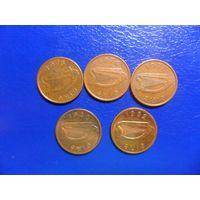 Ирландия 1/2 пенни 1971,1975,1976,1980,1982 г.г.-цена за монету