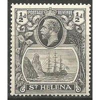 Остров Св. Елены. Король Георг V. Парусник. 1923г. Mi#64.