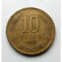 10 песо 1988 года Чили - из коллекции