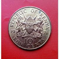 83-24 Кения, 10 центов 1978 г.