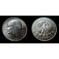 5 злотых 1934 штемпельный блеск, люстр, отличный коллекционный экземпляр,более редкий год