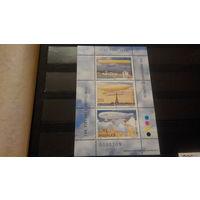 Транспорт, авиация, воздушный флот, дирижабли, цеппелины, марки, Албания, 2000, 2 блока - 2 фото