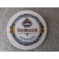 """Подставка под пиво (бирдекель) """"Gutmann"""" (Германия)."""