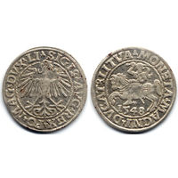 Полугрош 1548, Жигимонт Август, Вильно.Окончание легенд: Ав - LI, Рв - LITVA