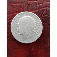2 злотых  1932г. Серебро