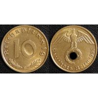 YS: Германия, Третий Рейх, 10 рейхспфеннигов 1937E, КМ# 92 (3)