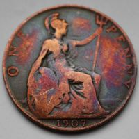 Британия, 1 пенни 1907 г
