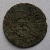 Шеляг 1617 г. Сигизмунд III Ваза, Рига, Коп. #8156 R