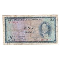 Люксембург 20 франков 1961 года. Редкая!