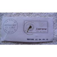 Францыя марка адуванчик на белом фоне. распродажа