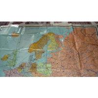 Европа, карта 1988 года.