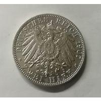 Германия 2 марки 1907 г Гамбург
