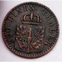 РАСПРОДАЖА!!! - ГЕРМАНИЯ ПРУССИЯ 1 пфенниг 1864 год
