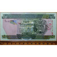 2 доллара Соломоновы острова