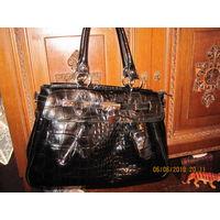Лаковая Итальянская кожаная сумка