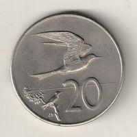Острова Кука 20 центов 1987