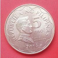 64-37 Филиппины, 5 песо 2014 г.