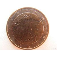 Эстония 2 евроцента 2012г.